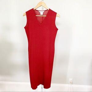 Misook V-Neck Knit Sheath Dress